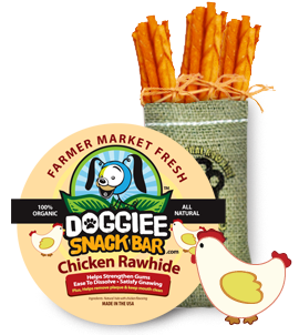 100% Rawhide Chicken Gnaw Stix/15 pack
