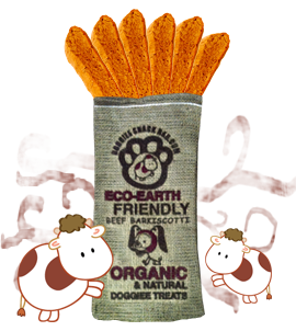 Organic & Natural Beef Barkiscotti/3 pk (Farmer's Market Fresh)