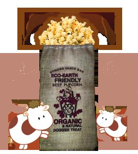Organic Beefy Pupcorn/ 3 bag (Farmer's Market Fresh)