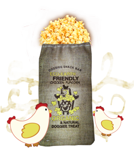 Organic Chicken Pupcorn/ 3 large bag (Farmer's Market Fresh)