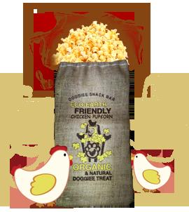 Organic Chicken Pupcorn/ 3 large bag (Farmer's Market Fresh)